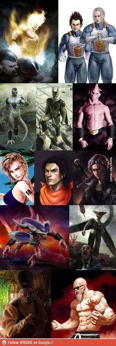Dragon Ball Z: Realistic art.  Love it