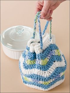 Crochet for the Home - Crochet Potholder Patterns - Rippling Fun