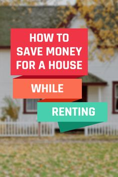 How to Save Money For a House While Renting Get Cash Fast, Money Saving Meals, Money Savers, Save For House, Household Expenses, Savings Planner, Frugal Tips, Finance Tips, Money Management