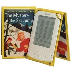 Nancy Drew Leather Kindle Cover Easel Style for 6 Inch Display