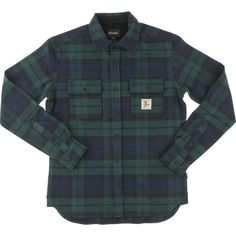 Diamond Caribou Navy Long Sleeve Flannel Button Up - new at Warehouse Skateboards! #WHSkate