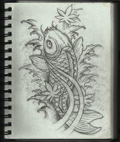 Koi Tattoo Design by Frosttattoo.deviantart.com on @deviantART