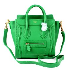 celine medium box bag price - Celine Luggage Green Black Leather Bag http://www.hjbon.com/celine ...