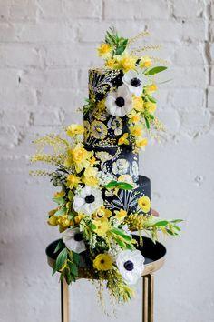 Luxe yellow back white spring wedding ideas - 100 Layer Cake European Wedding, French Wedding, Wedding Looks, Tuscan Wedding, Yellow Wedding Flowers, Blue Wedding Dresses, Yellow Flowers, Wedding Trends, Wedding Designs