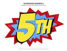 Superhero Birthday Numbers