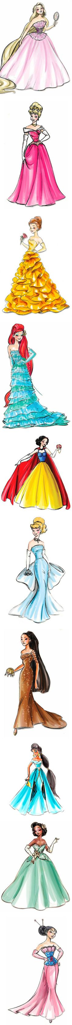 Disney Princess Prom by keyaluvsfrank on Polyvore so cute! although, Cinderella's dress could be better...