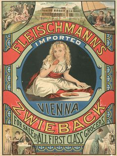 Fleischmann's Zwieback advertising card c1876-1890
