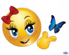 Du bist ein hübscher Schmetterling! Smiley Smile, Love Smiley, Smile Face, Cute Faces, Funny Faces, Emoji Messages, Emoji Characters, Emoji Images, Happy Hippie