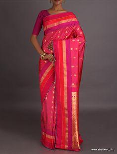 Chameli Traditional Bootis Ornate Pallu Pure #BangaloreSilkSaree