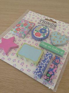 Sticky notes set flowers by LadyendeVagehond on Etsy, $6.80