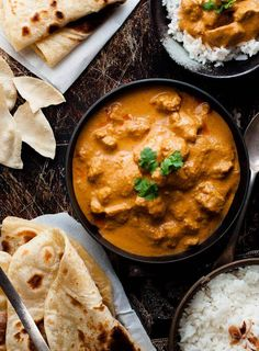 Chicken Butter Chicken - a chef recipe which is so simple and uses ingredients from the supermarket. The sauce is incredible!Butter Chicken - a chef recipe which is so simple and uses ingredients from the supermarket. The sauce is incredible! Chef Recipes, Dinner Recipes, Cooking Recipes, Rice Recipes, Healthy Recipes, Cooking Food, Delicious Recipes, Cooking Tips, Indian Food Recipes