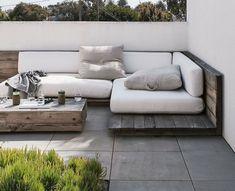 Ideias para decorar o jardim com paletes de madeira #hogarhabitissimo