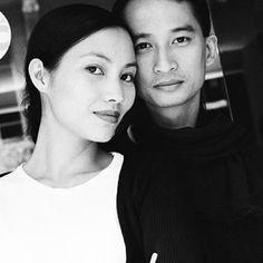 Director Tran Anh Hung with actress Tran Nu Yen Khe (Scent of Green Papaya, among other films)