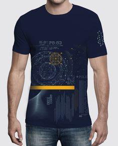 0c2ab5754d6cd Camiseta slim fit azul marino de manga corta con estampado frontal  multicolor Galaxia de 883 Police