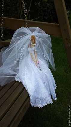 кукла Невеста - белый,невеста,кукла ручной работы,кукла текстильная,кукла интерьерная ♡
