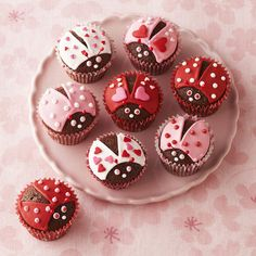 These oh-so-sweet love bug cupcakes are sure to warm your sweetie's heart and stomach.