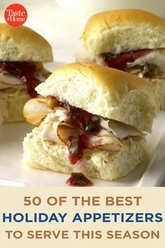50 of the Best Holiday Appetizers to Serve This Season Best Holiday Appetizers, Holiday Fun, Holiday Recipes, Marinated Olives, Bacon Jam, Holiday Side Dishes, Christmas Foods, Crab Cakes, Side Dish Recipes