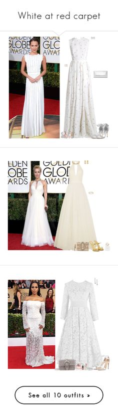"""""""White at red carpet"""" by lapshi4ka ❤ liked on Polyvore featuring Emilia Wickstead, Manolo Blahnik, Dorothy Perkins, Kenneth Jay Lane, Charlotte Russe, Nails Inc., Mariah Carey, Jenny Packham, Giuseppe Zanotti and Forever Unique"""