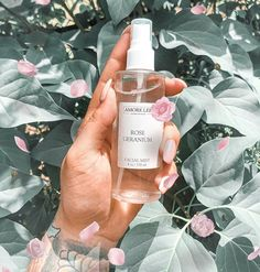Stay refreshed 💦 & keep your skin glowing all day long ✨ with our Rose Geranium Floral Water !