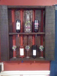 wooden pallet to wine rack