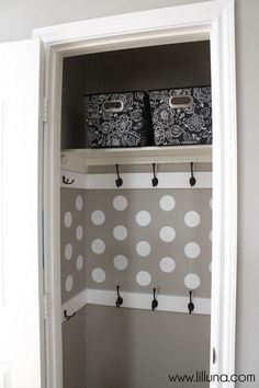 Love this closet makeover- from ordinary to extraordinary! Via Lil Luna