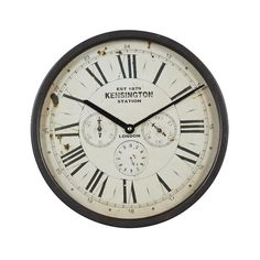 """Grayson Lane Vintage Style Brown Metal Penny-Farthing Clock 12"""" x 13"""" x 2"""" in the Clocks department at Lowes.com Large Metal Wall Clock, Large Clock, Vintage Walls, Vintage Metal, Vintage Industrial, Vintage Style, Bicycle Clock, Traditional Clocks, Black Clocks"""