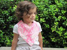 pink baby bib / Heart baby bib / sweetheart bib by FHJBaby on Etsy