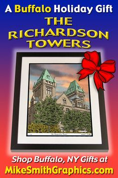 Highly detailed drawing featuring the Richardson Towers in Buffalo, NY by Western NY artist Michael Smith. Shop for unique artwork in a variety of subjects at MikeSmithGraphics.com. Limited Edition Prints, Towers, Wall Art Prints, Buffalo, Ink, Drawings, Unique, Artist, Artwork