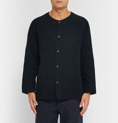 ChimalaCollarless Cotton-Corduroy Shirt