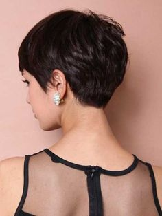 Dark Pixie Cut Back View
