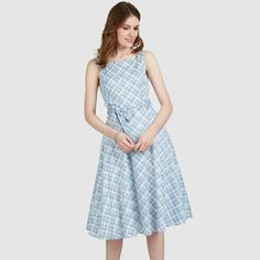 Check Print Fit and Flare Dress #lauraashleystyle