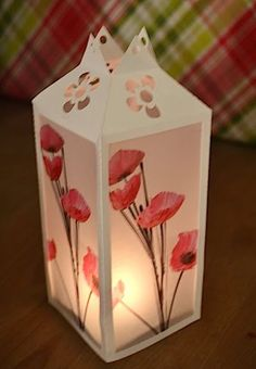 Pinner Wrote: tutorial for vellum luminaries at DIY or Don't a wonderful website with lovely crafts! Vellum Crafts, 3d Paper Crafts, Diy Paper, Vellum Paper, Home Crafts, Fun Crafts, Diy And Crafts, Arts And Crafts, Diy Projects To Try