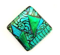 Items similar to Kitchen Backsplash Glass Tile in Colorful Dichroic Mosaic Design. Stunning on Walls, Floors, Swimming Pools, and more. Each Tile is Unique. on Etsy Glass Tile Backsplash, Glass Mosaic Tiles, Dichroic Glass Jewelry, Glass Pendants, Glass Pool, Colored Glass, Glass Art, Clear Glass, Green