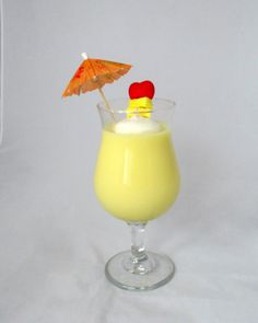 Pina Colada Candle wine glass candle scented by NorthernLitesGifts