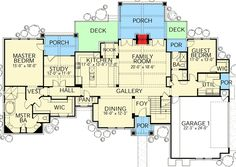 Plan 28333HJ: Hill Country With Upstairs Game And Media Rooms