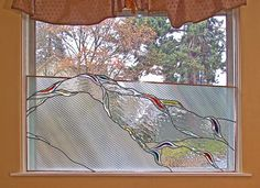 Dining Room Glass Window, an original work in leaded stained glass by Isaac Smith