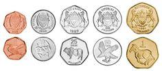 Botswana,  set of 5 uncirculated coins