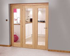Image result for unfinished oak bi fold doors internal | garage ...