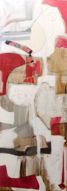 "Saatchi Art Artist Susan Washington; Painting, ""Untraveled Red 3"" #art"