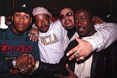 Hip Hop pioneers from left to right: LL Cool J, Russell Simmons, Heavy D, and Jalil Hutchins of Whodini. to save hip hop, visit here: https://www.indiegogo.com/projects/hhqclothing