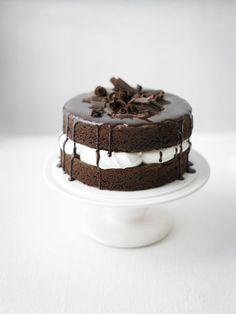 Homemade ice cream cake.