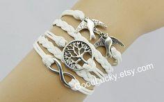 Leather BraceletsWristbandInfinity braceletLuck wish by goodlucky, $10.99