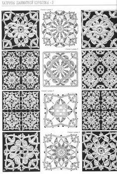 crochet square motifs 4 diagram | Charts for filet crochet 5 | Pinter ...