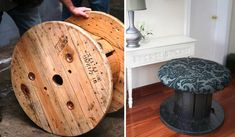 Upcycling wooden cable spools