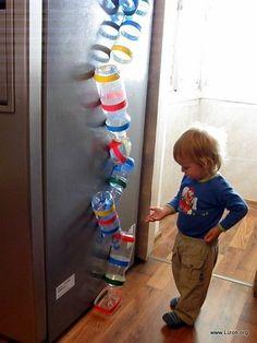 El mundo de mis sueños. . . Lizon.org: Spinning bolas - un juego de botellas de plástico