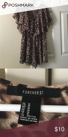 Cheetah print romper Flowy cheetah print romper from forever 21. Size M Forever 21 Other