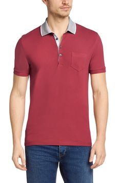 BOSS Regular fit piqué polo shirt 'Firenze 45' in cotton Open Red free shipping