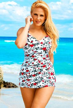 Fatshion: a truly ridiculous number of cute plus-size swimsuits to jam your excellent fat ass into this summer Cute Plus Size Swimsuits, Plus Size Swimwear, Curvy Women Fashion, Plus Size Fashion, Girl Fashion, Plus Size Dresses, Plus Size Outfits, Look Plus, Plus Size Lingerie