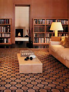 Living com Grande Tapete Geometrico