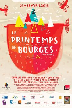 LE PRINTEMPS DE BOURGES 2013 by gosia stolinska, via Behance